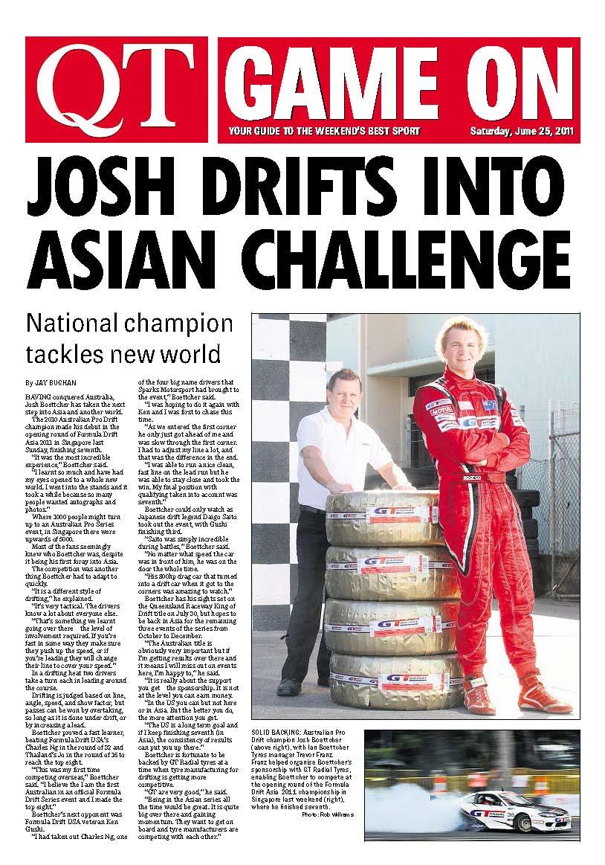 Newspaper Article: Formula Drift Asia write-up! - Josh ...